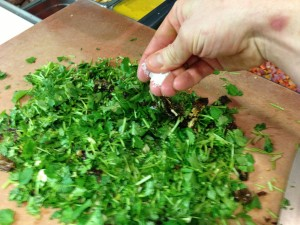 How to preserve and use leftover fresh herbs.