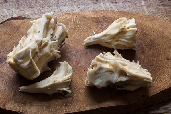 Cooking with the hen of the woods core