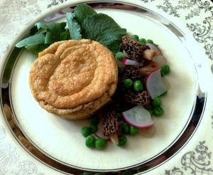 Dried Morel Souffles With Ramps And Spring Vegetables