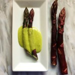 Purple Asparagus with Ramp Bearnaise