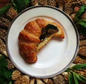 Croissant Stuffed With Morels Ramps And Nettles.