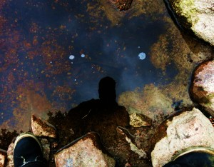 Forager Chef Reflecting in the Boundary Waters