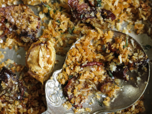 Wild Mushrooms With Breadcrumbs, Garlic, And Chili
