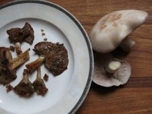 sauteed blewit blue foot mushroom recipe