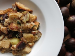 Wild Chestnut Stuffing With Apples, Bacon, And Sage