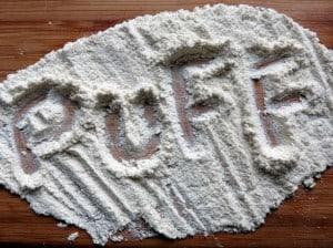 dried/dehydrated puffball mushroom powder
