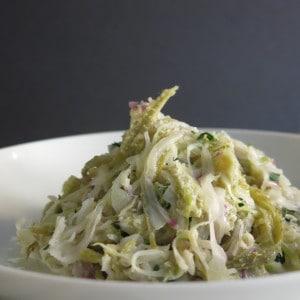 Pickled Milkweed-Cabbage Slaw