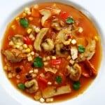 recipe for lobster and entoloma mushroom manhattan clam chowder