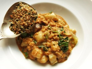 Gnocchi, Northern Pike-Porcini Ragu and Escarole