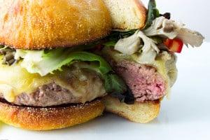 dan farmer's maitake swiss burger