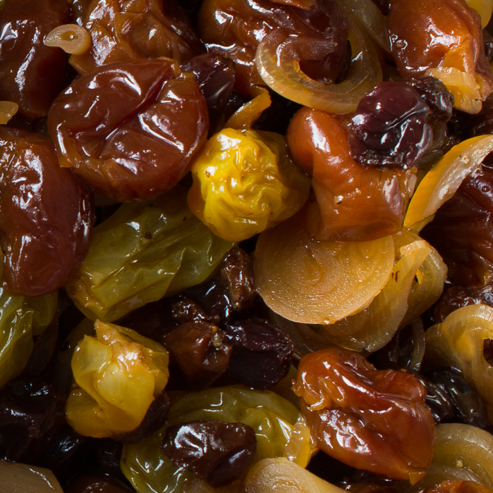 Pickled Ramp-Dried Fruit Agrodolce