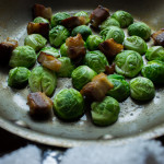 Brussels sprout with pickled hen of the woods mushrooms