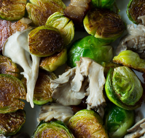 Brussels Sprouts With Pickled Hen Of The Woods