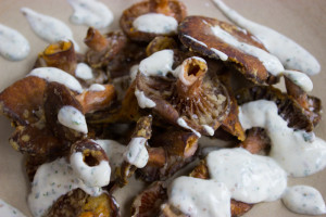 Turkish Saffron Milkcaps With Cumin Yoghurt