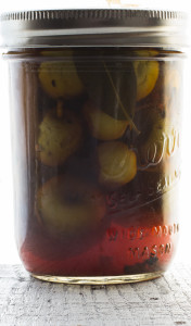 Pickled Young Crabapples