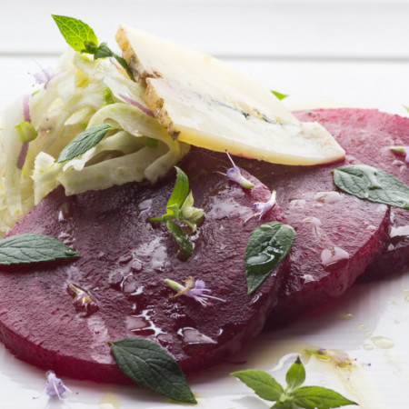 Roasted beet salad with fennel and anise hyssop-5
