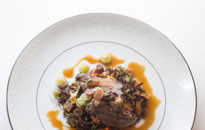 Squab With Gooseberries And Chanterelle Wild Rice