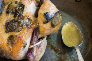 "Roast Chicken ""Demi-Deuil"", With Black Truffles"