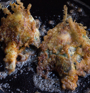 Parmesan Crusted Shaggy Manes