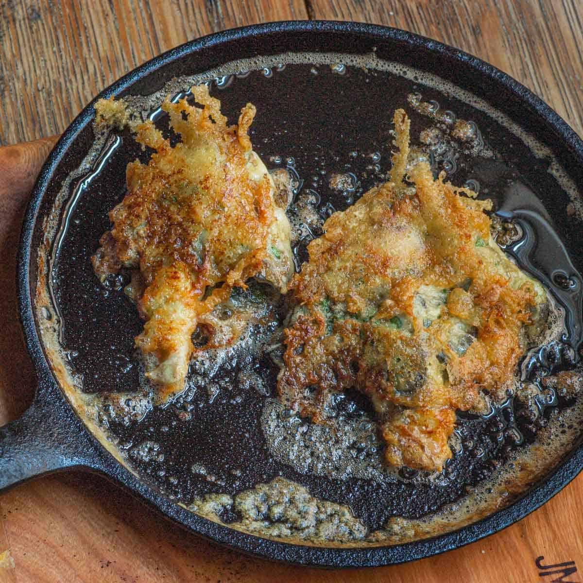 parmesean crusted shaggy manes_-2