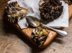 Roasted Maitake Steaks With Anchovy Sauce