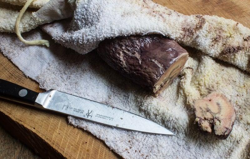recipe outake from the salt cellar st. paul mn, foie gras torchon
