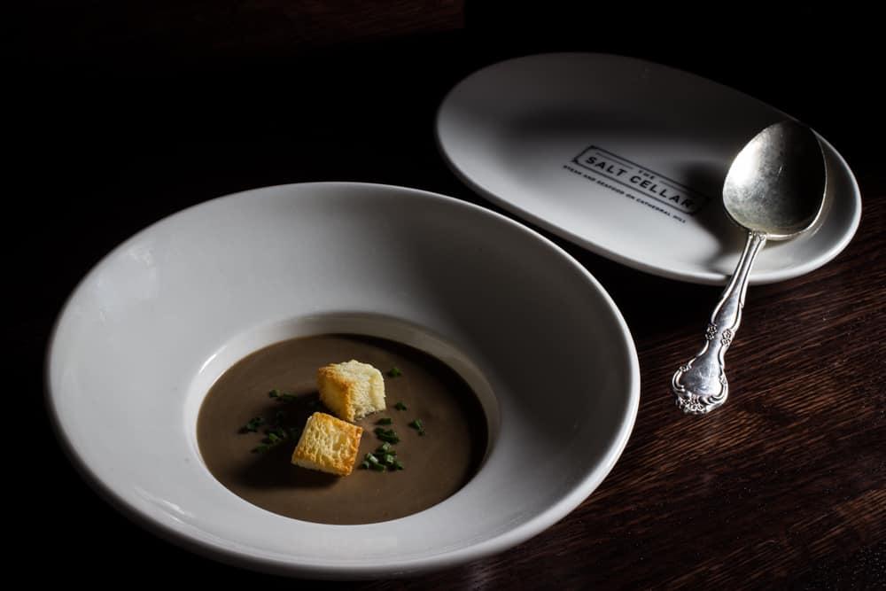 cream of bolete mushroom soup from the salt cellar