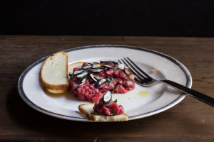 Beef Tartare With Dead Man's Fingers And Ramp Vinaigrette