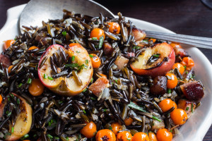 Wild Rice with Rowan Berries, Crabapples, and Bacon