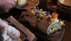 Knotweed Mousse Cake With Maple Buttercream and Wildflowers