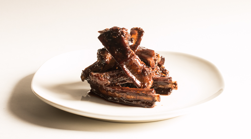Wild Boar Ribs With Elderberry Vinegar Glaze