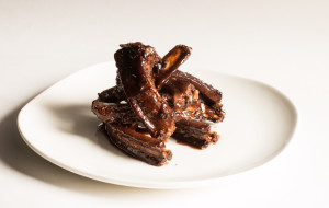 Boar Ribs With Elderberry Glaze