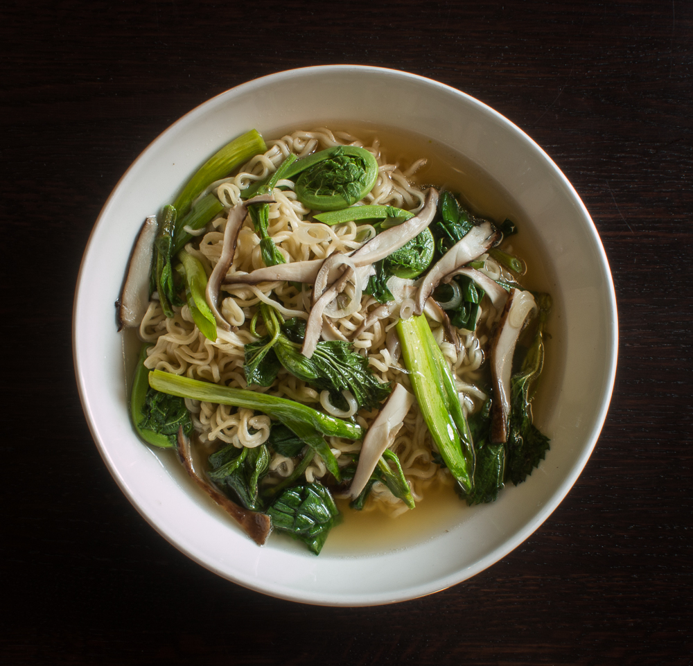 Dryad Saddle Mushroom Ramen With Wild Spring Vegetables_