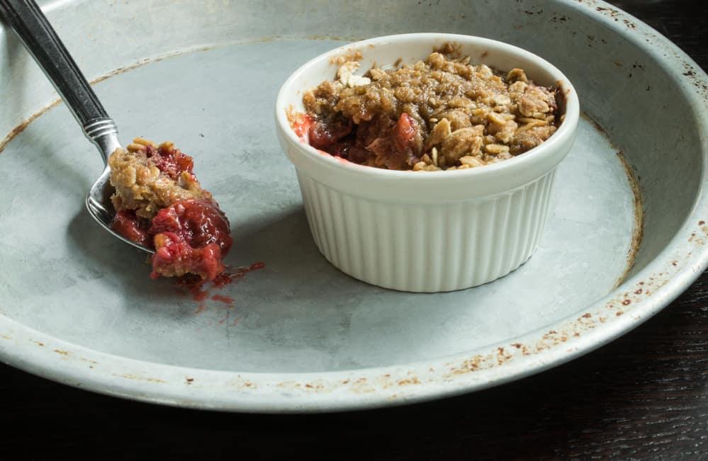 Strawberry-Rhubarb Crisp with Angelica