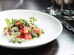 Watermelon Salad With Purslane and Anise Hyssop