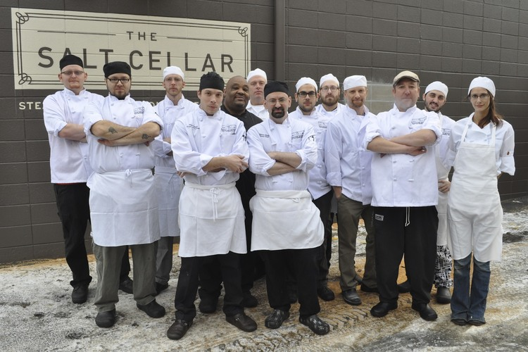 Opening crew of The Salt Cellar.