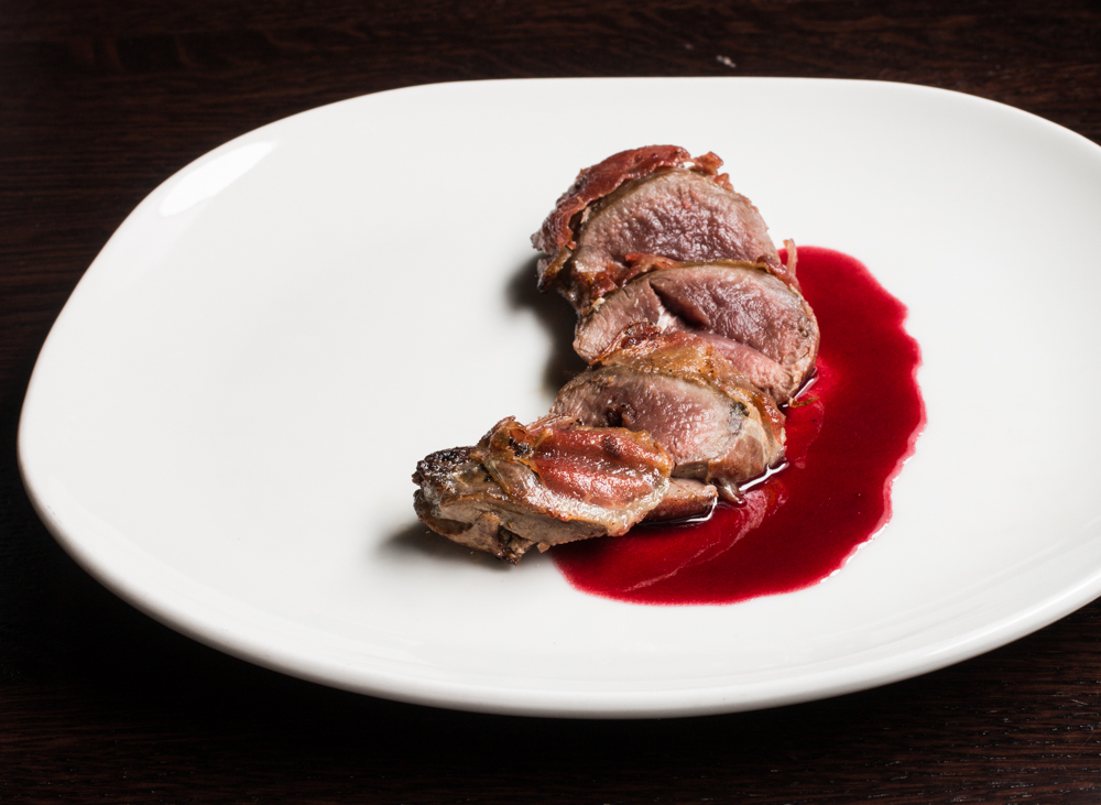 Sharp-Tail Grouse With Prosciutto and Elderberry Vinegar Sauce_-