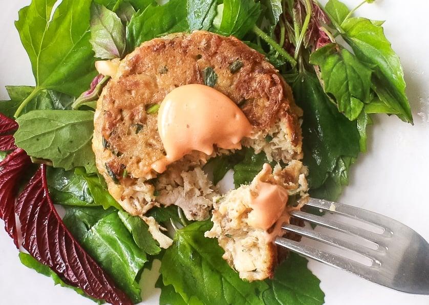 Hericium Mushroom Crabcakes