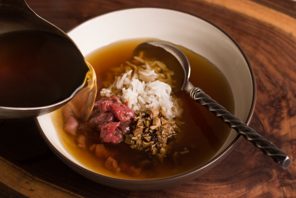 Lamb Consomme With Pine Porcini and Rice
