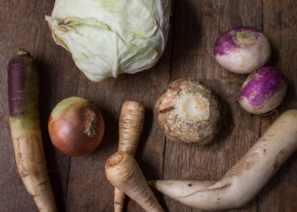 White Winter Vegetables