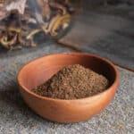 Suillus or slippery jack mushroom-coffee rub