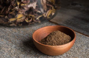 Suillus or slippery jack mushroom-coffee rub