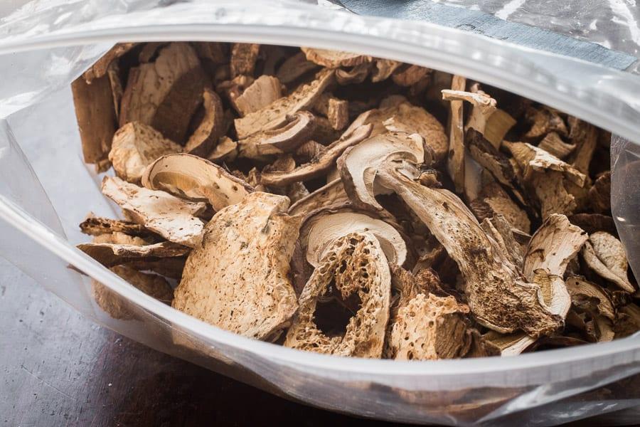 Dried Minnesota Porcini Mushrooms