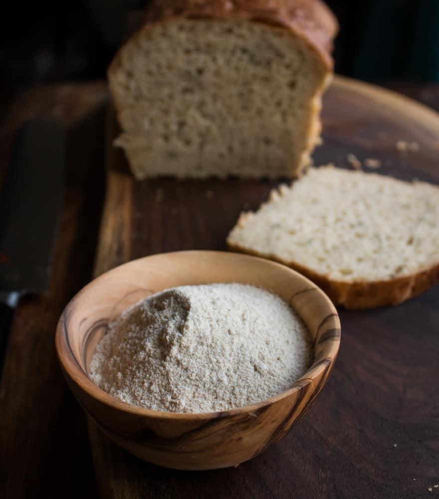 Amaranth flour brioche