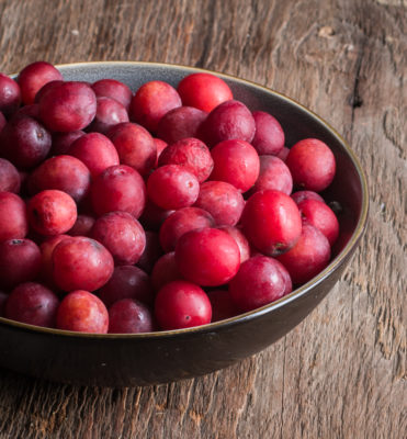 foraged plums from Minnesota