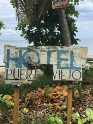 Hotel Sign Puerto Viejo