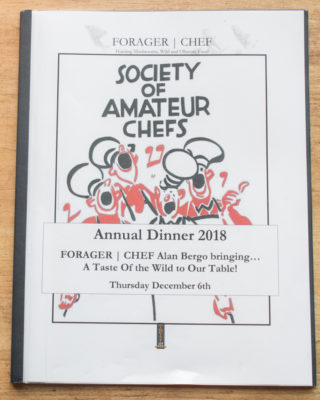 SOAC Dinner Booklet 2018, by Chef Alan Bergo
