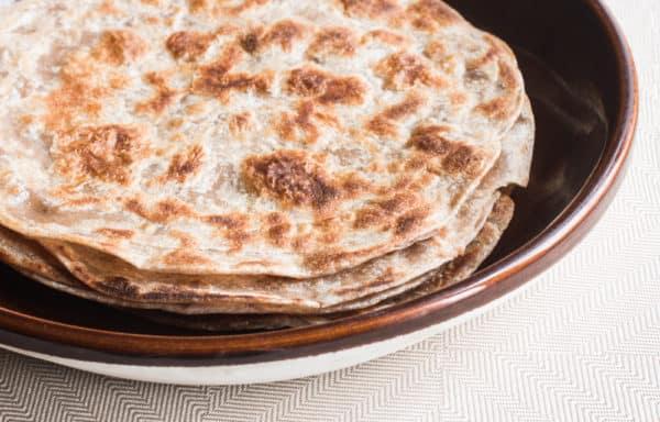 Flatbread for an amaranth saag paneer