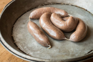 Smoked lamb heart sausages