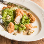 Lamb Sweetbreads with Lettuce, Brown Butter and Nasturtium Capers